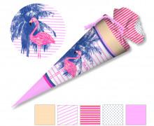 DIY-Nähset Schultüte – Flamingo und Palme – zum selber Nähen