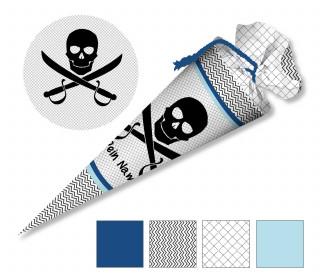 DIY-Nähset Schultüte - Piratenschädel - zum selber Nähen