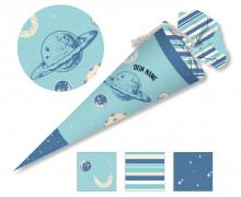 DIY-Nähset Schultüte - Solar System - Planeten - Blau - zum selber Nähen