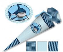 DIY-Nähset Schultüte – Hai – zum selber Nähen