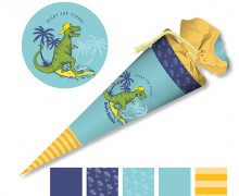 DIY-Nähset Schultüte - cooler Dino - zum selber Nähen