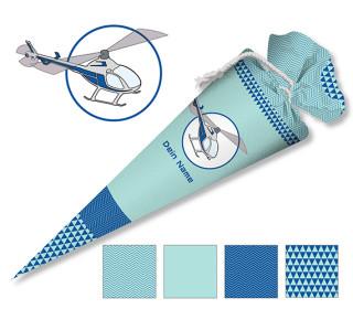 DIY-Nähset Schultüte - Helikopter - zum selber Nähen