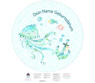 DIY-Nähset Babydecke - Rund - Under The Sea - Qualle - Anker - Top Babydecke - pers. Krabbeldecken Top - zum selber Nähen
