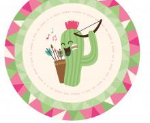 DIY-Nähset Babydecke - Rund - BohoTiere - Kaktus - Top Babydecke - pers. Krabbeldecken Top - zum selber Nähen