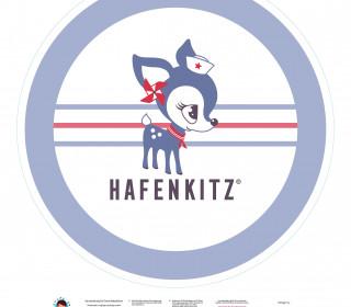 DIY-Nähset Babydecke - Rund - HafenKitz - blau - pers. Deckentop - NIKIKO - zum selber Nähen