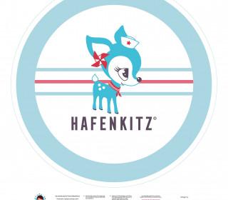 DIY-Nähset Babydecke - Rund - HafenKitz - türkis - pers. Deckentop - NIKIKO - zum selber Nähen