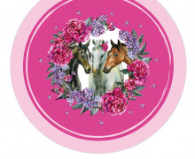 DIY-Nähset Babydecke - Rund - Dream Horses - 03 - Top Babydecke - pers. Krabbeldecken Top - zum selber Nähen