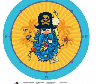DIY-Nähset Babydecke - Rund - Pirat - Top Babydecke - pers. Krabbeldecken Top - zum selber Nähen