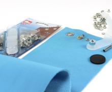 40 Ösen mit Scheiben - Eyelets - Silber - 5mm.
