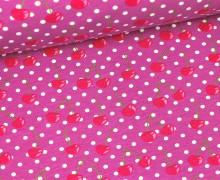 Jersey - GOTS - Cherry Dots - Violett