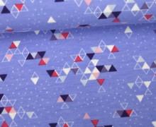 VORBESTELLUNG - Sommersweat - Triangles 2017 - Lila - Weiß-Glitzer - NIKIKO