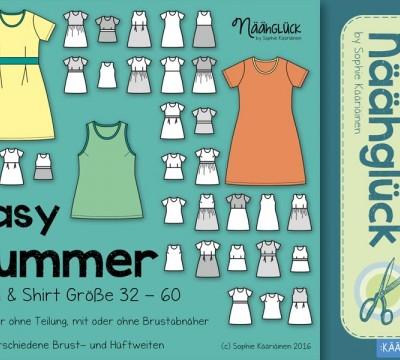 Ebook - Näähglück Easy Summer – Top, Shirt & Kleid Größe 32 - 60