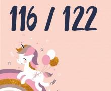 DIY-Nähset Kleidchen - Einhorn - Größe 116/122 Jersey - NIKIKO - zum selber Nähen