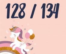 DIY-Nähset Kleidchen - Einhorn - Größe 128/134 Jersey - NIKIKO - zum selber Nähen