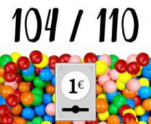 DIY-Nähset Kleidchen - Kaugummiautomat - Größe 104/110  - Jersey - Fasching - Karneval - Kostüm - zum selber Nähen