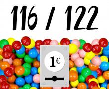 DIY-Nähset Kleidchen - Kaugummiautomat - Größe 116/122 - Jersey - Fasching - Karneval - Kostüm - zum selber Nähen