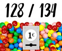 DIY-Nähset Kleidchen - Kaugummiautomat - Größe 128/134 - Jersey - Fasching - Karneval - Kostüm - zum selber Nähen
