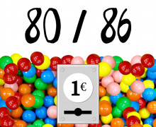 DIY-Nähset Kleidchen - Kaugummiautomat - Größe 80/86 - Jersey - Fasching - Karneval - Kostüm - zum selber Nähen