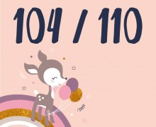 DIY-Nähset Kleidchen - Reh - Größe 104/110 Jersey - NIKIKO - zum selber Nähen