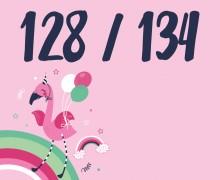 DIY-Nähset Kleidchen - Flamingo - Größe 128/134 Jersey - NIKIKO - zum selber Nähen