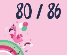 DIY-Nähset Kleidchen - Flamingo - Größe 80/86 - Jersey - NIKIKO - zum selber Nähen