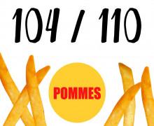 DIY-Nähset Kleidchen - Pommes - Größe 104/110  - Jersey - Fasching - Karneval - Kostüm - zum selber Nähen