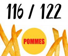 DIY-Nähset Kleidchen - Pommes - Größe 116/122 - Jersey - Fasching - Karneval - Kostüm - zum selber Nähen