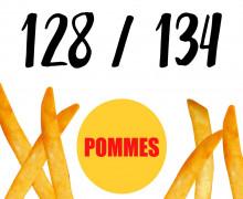DIY-Nähset Kleidchen - Pommes - Größe 128/134 - Jersey - Fasching - Karneval - Kostüm - zum selber Nähen