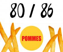 DIY-Nähset Kleidchen - Pommes - Größe 80/86 - Jersey - Fasching - Karneval - Kostüm - zum selber Nähen