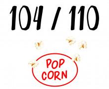 DIY-Nähset Kleidchen - Popcorn - Größe 104/110  - Jersey - Fasching - Karneval - Kostüm - zum selber Nähen