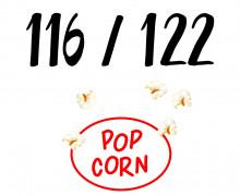 DIY-Nähset Kleidchen - Popcorn - Größe 116/122 - Jersey - Fasching - Karneval - Kostüm - zum selber Nähen