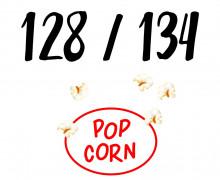 DIY-Nähset Kleidchen - Popcorn - Größe 128/134 - Jersey - Fasching - Karneval - Kostüm - zum selber Nähen