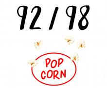 DIY-Nähset Kleidchen - Popcorn - Größe 92/98 - Jersey - Fasching - Karneval - Kostüm - zum selber Nähen