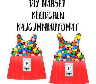 DIY-Nähset Kleidchen - Kaugummiautomat - Jersey - Fasching - Karneval - Kostüm - zum selber Nähen