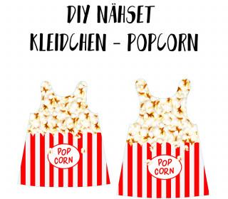 DIY-Nähset Kleidchen - Popcorn - Jersey - Fasching - Karneval - Kostüm - zum selber Nähen