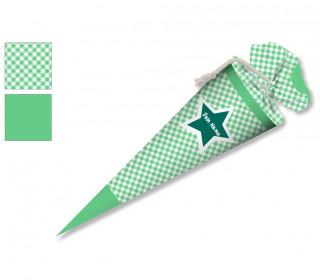 DIY-Nähset Schultüte - Stern Grün - zum selber Nähen