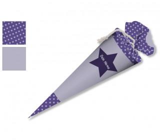 DIY-Nähset Schultüte - Stern Lila - zum selber Nähen