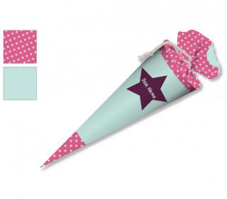 DIY-Nähset Schultüte - Stern Mint - zum selber Nähen