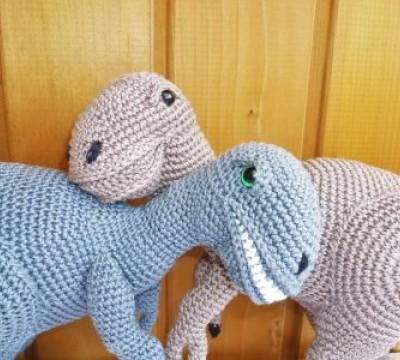 Häkelanleitung Dinosaurier - Raptor