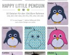 Stick Datei -  Happy little Penguin 10x10