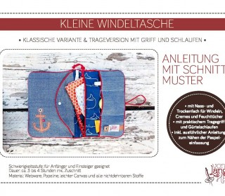 Ebook - Kleine Windeltasche + Gratis Wickelunterlage