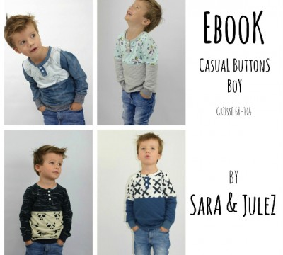 Ebook - Casual Buttons Boy - Größe 68 - 164