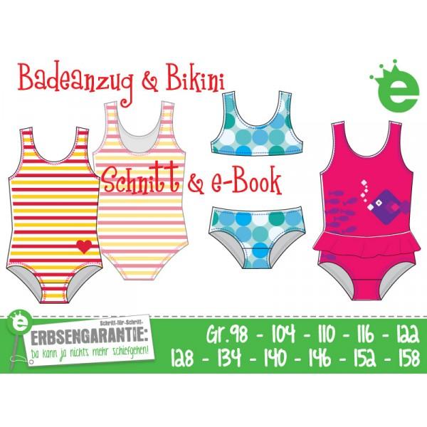 Ebook - Badeanzug Bikini Gr. 98 - 158