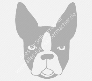 Plotterdatei Boston Terrier