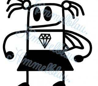 Plotterdatei Super Diamond Girl