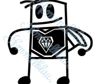 Plotterdatei Super Diamond Boy