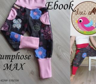 Ebook - Pumphose MAX mit Taschen Gr. 62/68-110/116