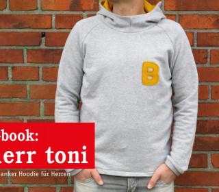 Ebook - Pullover - Herr TONI Kapuzenpulli für Herren - Größen S(44)- XXL(58/60)