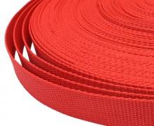 1 Meter Gurtband - Erdbeerrot (162) - 25mm
