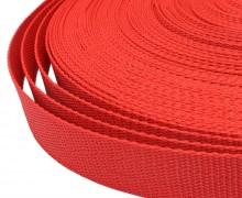 1 Meter Gurtband - Erdbeerrot (162) - 30mm